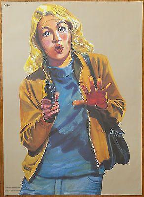 Vintage Law Enforcement Police Shooting Target Poster Artist = Arthur Piroton