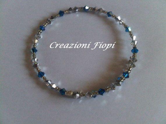 bracciale cerchio rigido  BICONI SWAROVSKI di CREAZIONIFIOPI, €20.00