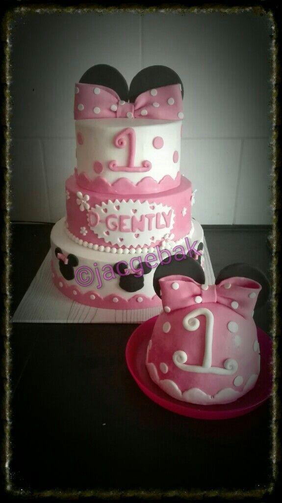 Pink Minnie koude cake
