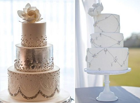 Very high end diamond wedding cake | ... wedding cakes by Faye Cahill (left) and Sweet & Saucy Cakes (right