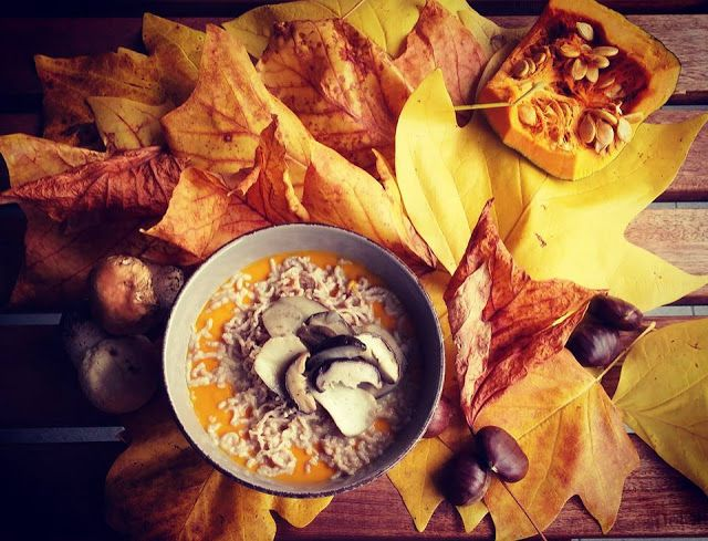 Frittomisto: cucina ed emozioni: Crema di zucca con spaghetti di castagne e porcini...