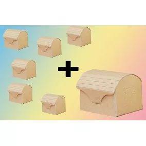 Cajas Cofres Souvenirs De Calidad Para Pintar X 40 + Regalo!