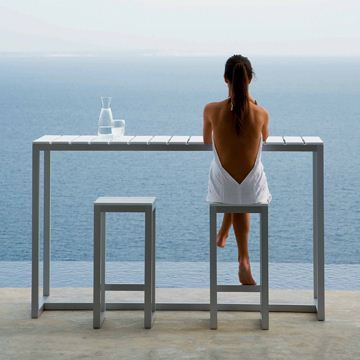 Gandia Blasco Saler Bar Table - Style # Mesa, Modern and contemporary outdoor bar tables at SWITCHmodern.com
