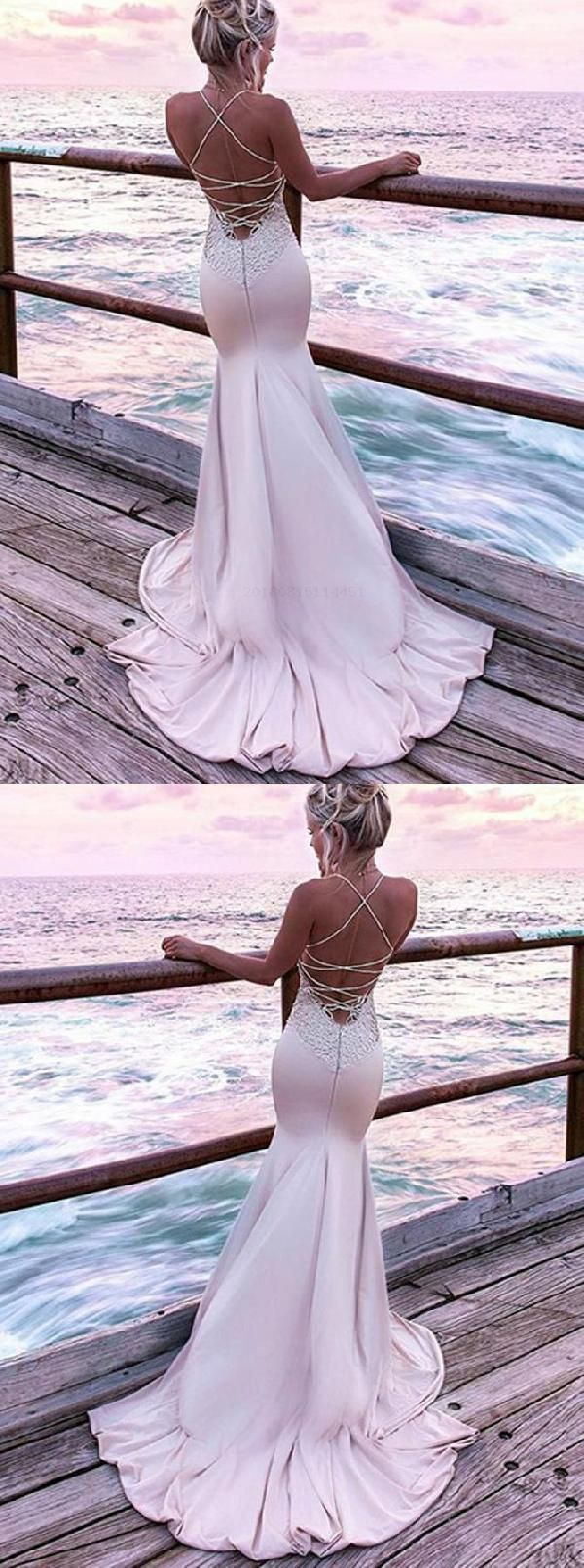 Admirable Prom Dresses With Appliques, Evening Dresses Pink, Prom Dresses 2019, Mermaid Evening Dresses