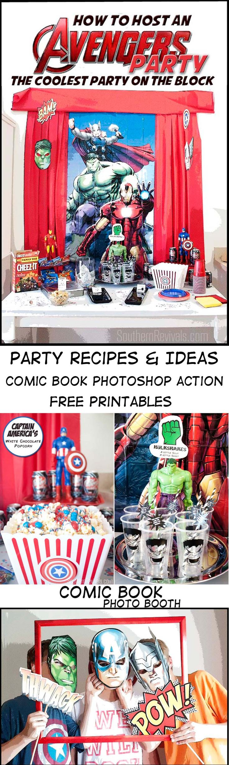 Host An Amazing Avengers Party | FREE Printables, Recipes & More - Southern Revivals #AvengersUnite #ad
