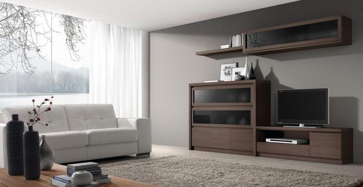 La colecci n de mobiliario roma de baixmoduls ofrece una for Modulos muebles salon