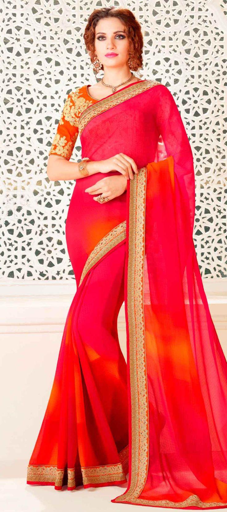 PINK CHIFFON SAREE WITH EMBROIDERY WORK  #Saree #GeorgetteSarees #IndianSaree #Sarees #PartywearSarees #RegularwearSarees #officeWearSarees #WeddingSarees #BuyOnline #OnlieSarees #GeorgetteSarees #NetSarees #ChiffonSarees #DesignerSarees #SareeFashion