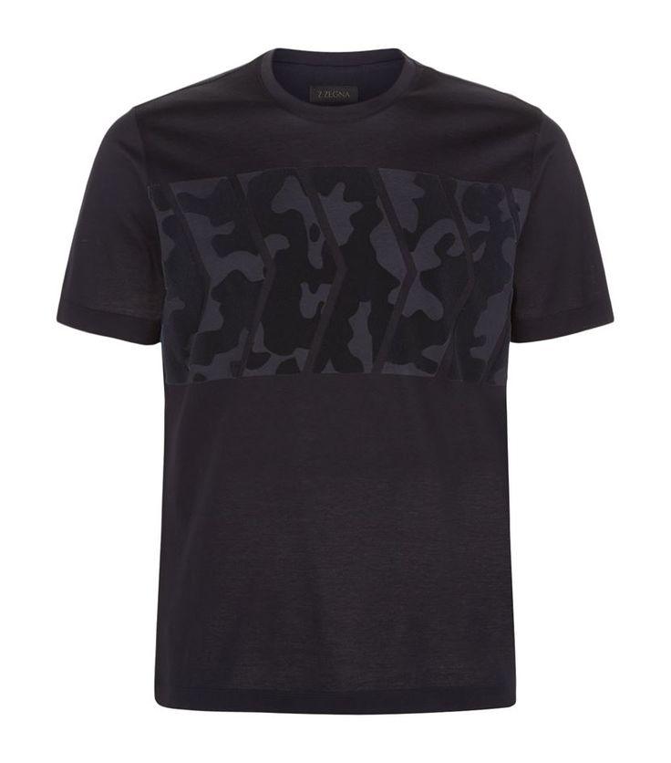 Z Zegna Velvet Camo T-Shirt, Navy. £ 99.95 #ZZegna #camo #TShirt #mensfashion #malefashion #menswear http://www.harrods.com/product/velvet-camo-t-shirt/z-zegna/000000000005269769?cat1=new-men&cat2=new-men-tshirts#