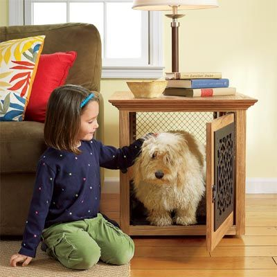 a pretty doggy crate!