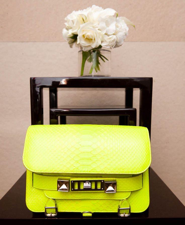 Neon Bag, Proenza Schouler: Proenza Schouler, Neon Bags, Summer Wardrobes, Fashion Design, Design Handbags, Summer Bags, Design Bags, Fashion Handbags, Neon Yellow