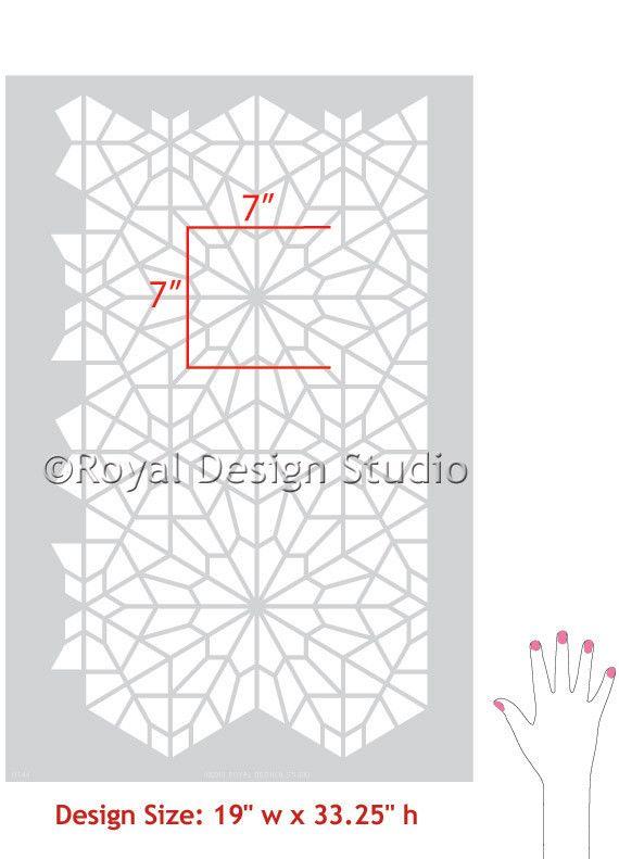 Allover Wall Stencil Starry Moroccan Night - Royal Design Studio - www.royaldesignstudio.com