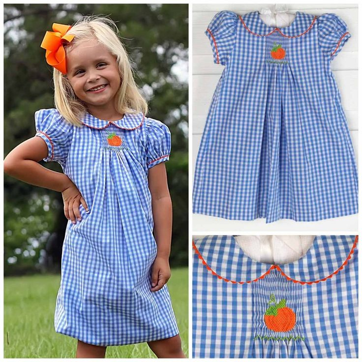 The perfect blue for the pumpkin patch! Matching styles for little and big…