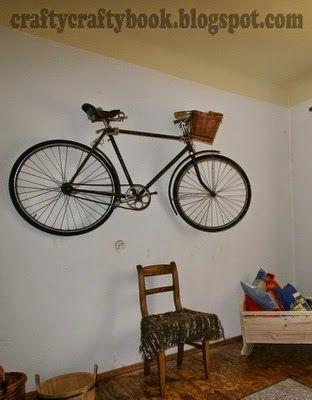 Crafty Crafty Book: Old Bike - wall decoration
