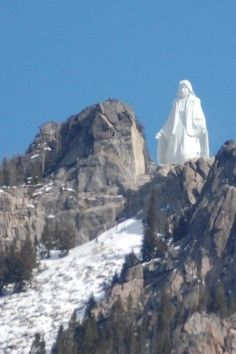 Our Lady Of The Rockies - is a 90-foot (27 m) statue, dedicated to the Blessed Virgin Mary, that sits atop the Continental Divide overlooking Butte, Montana. It is the second tallest statue in the United States after The Statue of Liberty.