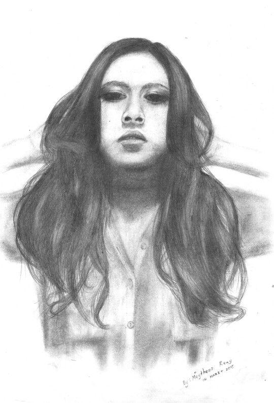 pensil sketsa wajah