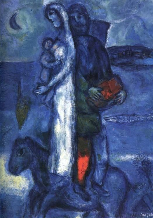 Fishermans family 1968 - by Marc Chagall