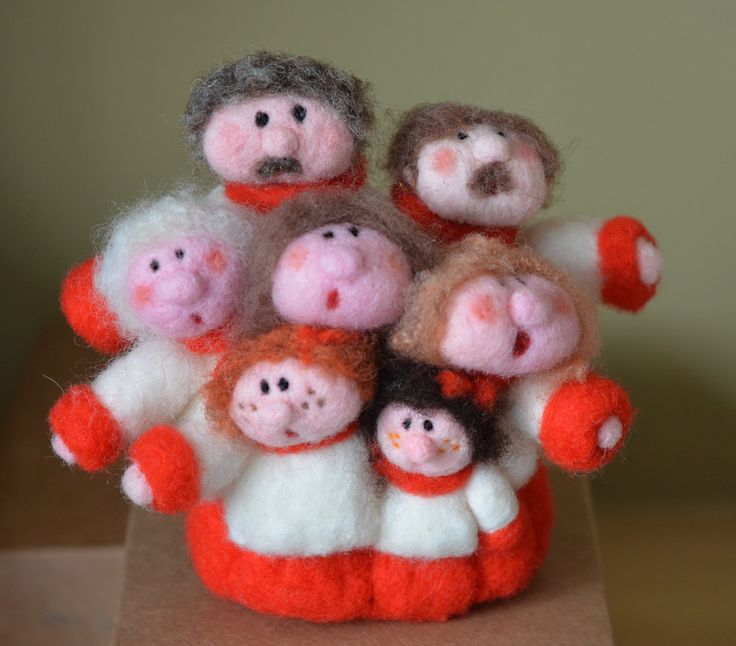 The Choir  Needle Felted sculpture  by Briege Connolly