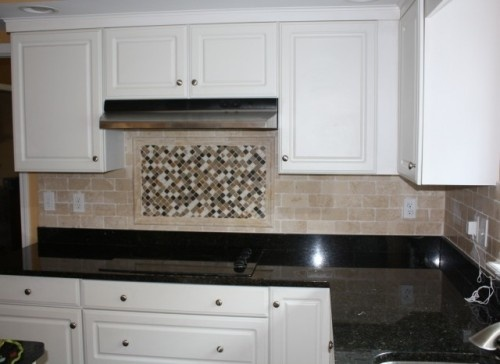 kitchen backsplash cooktop diagonal tile lay diamond granite
