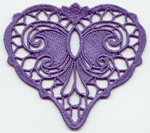 17 Best Ideas About Lace Heart On Pinterest Fabric