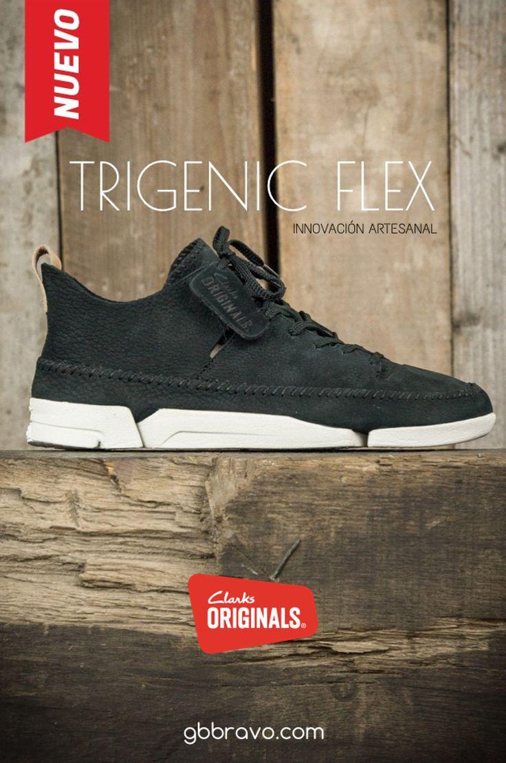 Nuevos Clarks Originals Trigenic Flex. Sistema único de suela tri-modular. Se flexiona con el movimiento natural del pie.   #SNEAKERS #TRIGENICFLEX