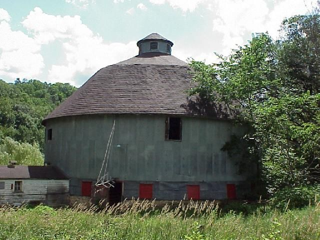 There was a round barn on my great grandfather 39 s farm near for Barn house indiana