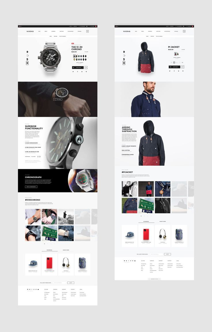 Nixon eCommerce Design by BASIC Agency www.basicagency.com