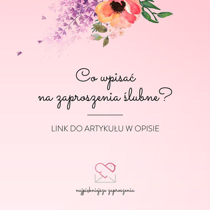 Wszystkie ważne informacje >>  http://najpiekniejsze-zaproszenia.blogspot.com/2016/03/co-wpisac-na-zaproszenia-slubne.html wedding invitation what to write