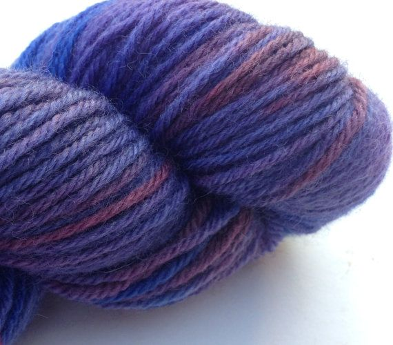 Happy Accident (Eos- 100% BFL DK) Purples, blues and reds