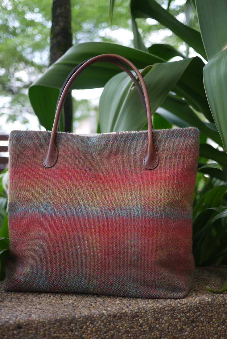 Woven on the Ashford Knitter's Loom - I hope to be able to make fabric on my loom to be able to make a bag