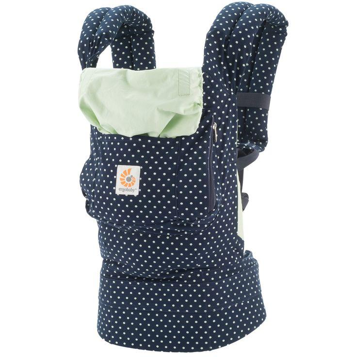 Ergobaby Babytrage Kollektion Original (5,5 - 20 kg), Indigo Mint Dots: Amazon.de: Baby