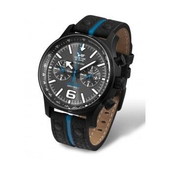 Reloj Vostok Cuero Negro y Azul con saetas e indices luminiscentes con Superluminova ¡Para ver la hora incluso en la oscuridad!  http://www.tutunca.es/reloj-crono-edicion-especial-north-pole-cuero-negro-azul-vostok