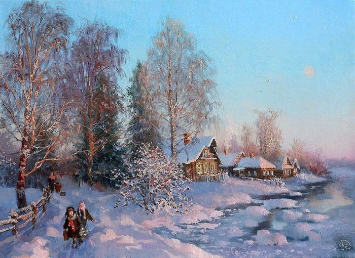зимние пейзажи Владимира Жданова – 04