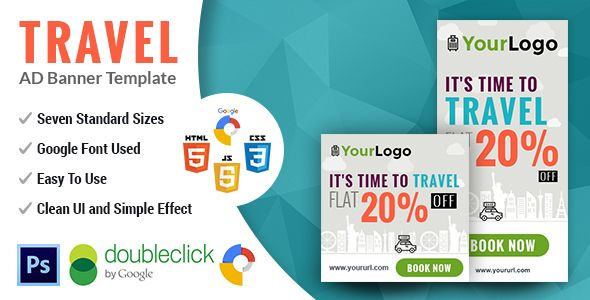 PathWay Travel   Animated html5 Google web Banner - CodeCanyon Item for Sale
