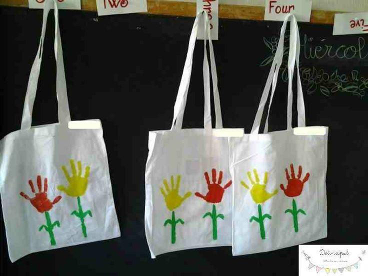 Delipapel: Bolso para el dia de la madre hecho por niños