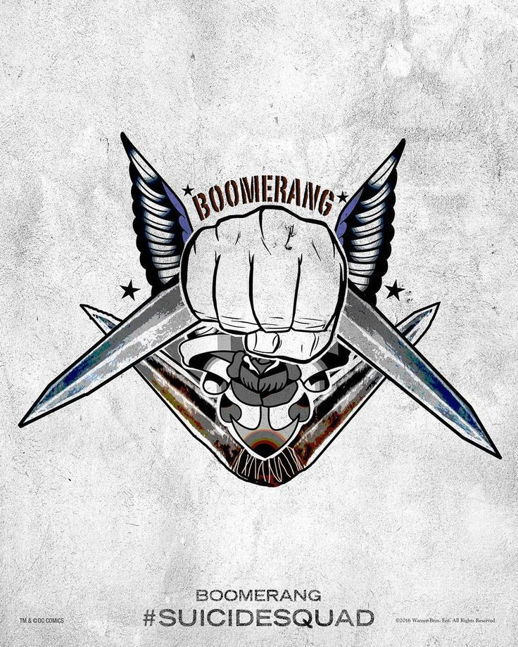 Boomerang - Suicide Squad Tattoo Poster
