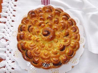 Rozi Erdélyi konyhája: Dió-almatöltelékkel töltött dekoratív kalácsok