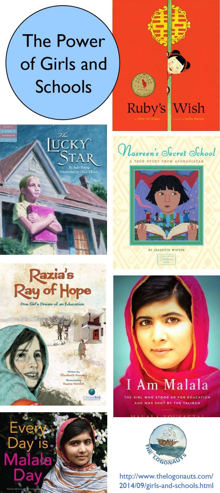 The Power of Girls and Schools: text set | The LogonautsTeach kids about the power of schools with these books set in Afghanistan, China, and more!
