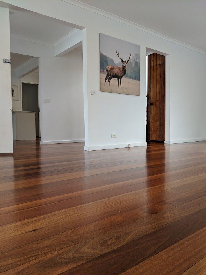 Meranti Floor in Langwarrin, finished in a matte