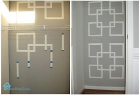 Painters tape wall design