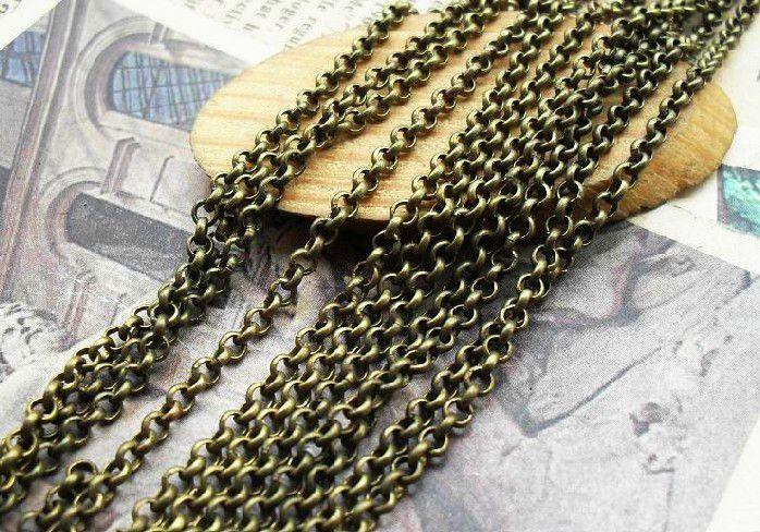 10M  2mm   Messing Brons Chain For Ketting van Wadsfred op DaWanda.com