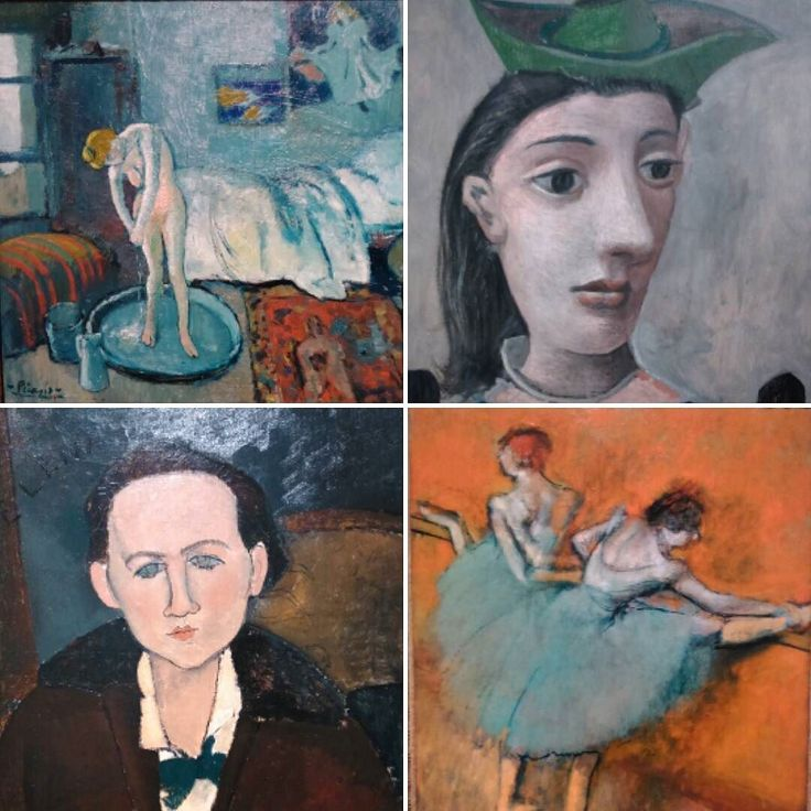 "I've had the privilege to see these fantastic paintings today at Caixa Forum's exhibition ""Impresionistas y Modernos"". I chose the four paintings I liked the most. #art #exhibition #paint #paintings #modernism #impressionism#degas #picasso #modigliani #No filters applied. by nordicgrace"