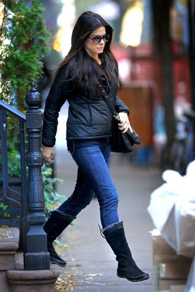 Sandra Bullock and Louis hit the Big Apple