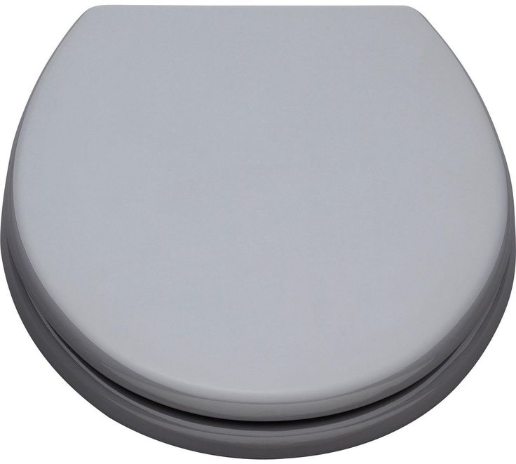 buy colourmatch moulded wood toilet seat flint grey at argoscouk