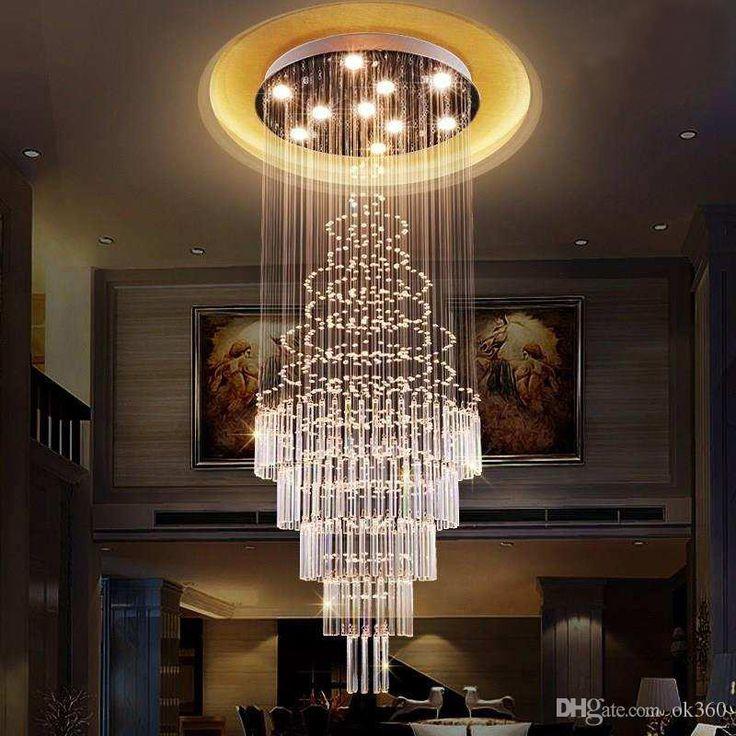Neue artikel kristall spiral kronleuchter lustre LED
