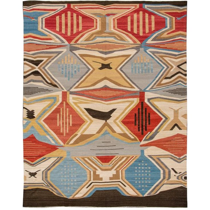 Simply Breathtaking Flat-weave Kilim Rug | From a unique collection of antique and modern central asian rugs at https://www.1stdibs.com/furniture/rugs-carpets/central-asian-rugs/