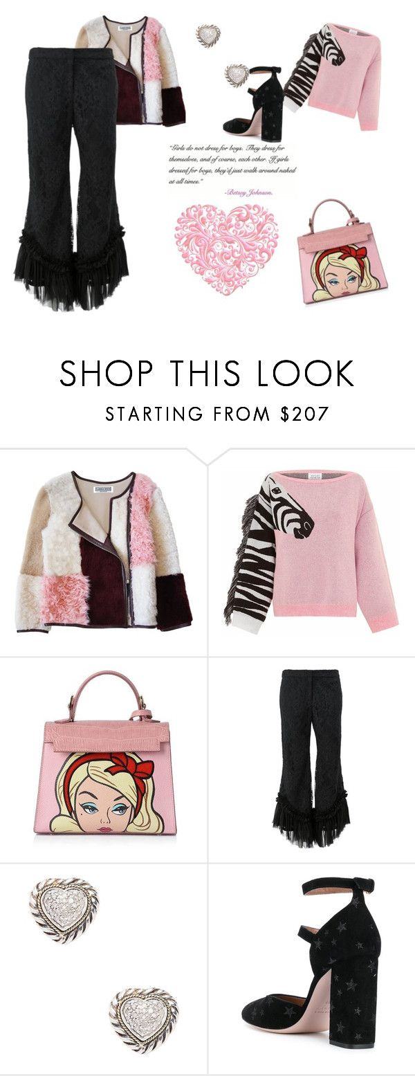 """""""Barbie morning"""" by micettes on Polyvore featuring moda, Florence Bridge, Hayley Menzies, Alexis, Effy Jewelry, RED Valentino e Betsey Johnson"""