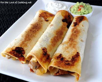 For the Love of Cooking » Pork Tenderloin, Caramelized Onion, and Monterey Jack Baked Flautas