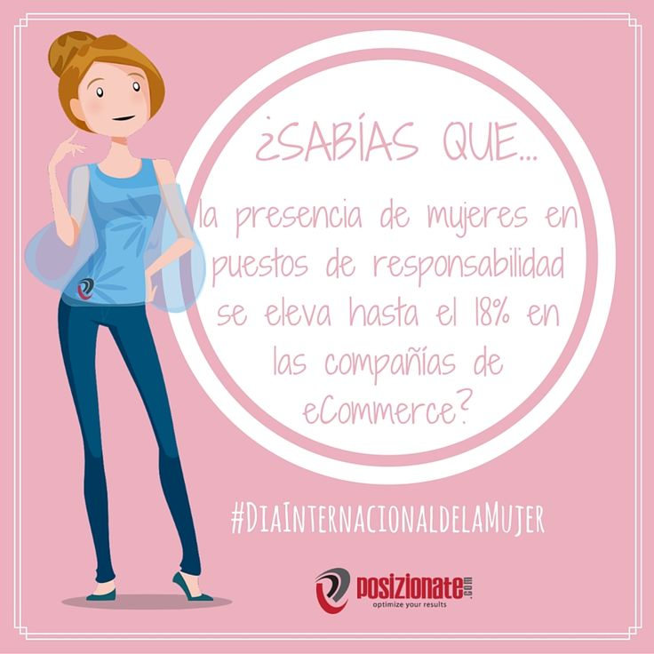 ¿Sabías que la presencia de #mujeres en puestos de responsabilidad se eleva hasta el 18% en las compañías eCommerce? #DiaInternacionaldelaMujer #FelizDiaDeLaMujer #DiadelaMujer #8demarzo #girlpower #curiosidades #SEOFacts #SEO #SEM #PPC #MarketingDigital #MarketingOnline #SocialMedia #redessociales #ecommerce #comercioelectronico
