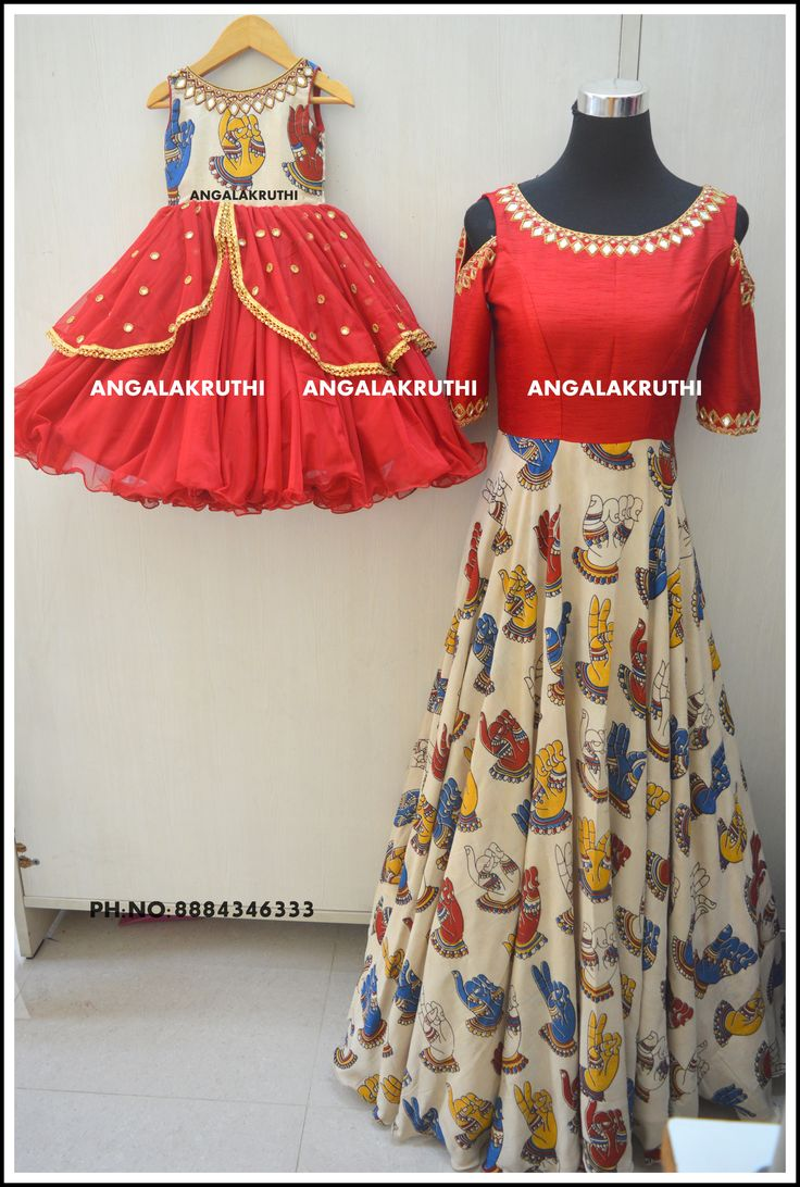 # Mother and  Daugter designs in Bangalore by Angalakruthi-Ladies  boutique #family concept dress designs #mom n me dresses india traditional dress designs by Angalakruthi watsapp:8884347333