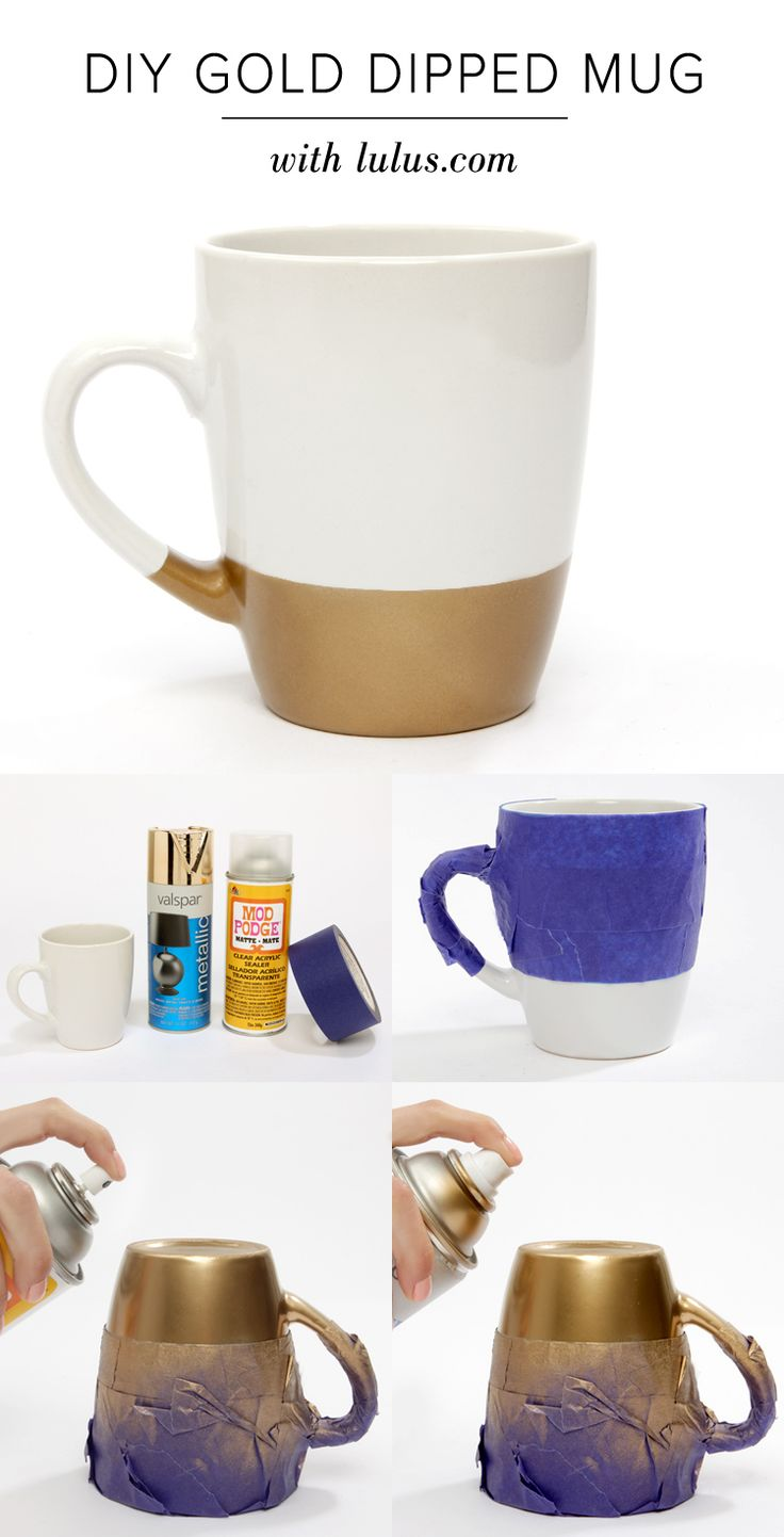 Here at LuLu*s we've realized there isn't much we wouldn't mind seeing dipped in a bit of gold! Check out our DIY Gold Dipped Mug tutorial on the blog!